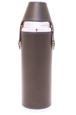 10oz Blue Leather Hunter Flask