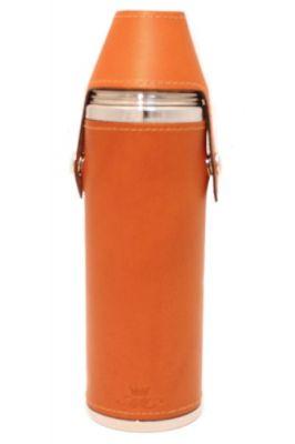 10oz Tan Leather Hunter Flask