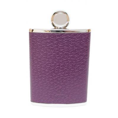 Purple Leather HipFlask Ladies 3oz