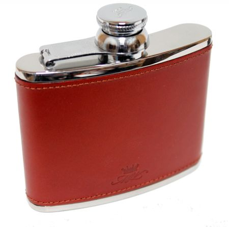 4oz Chestnut Leather Hip Flask