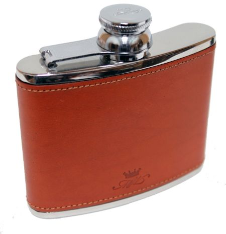 4oz Hip Flask  Tan