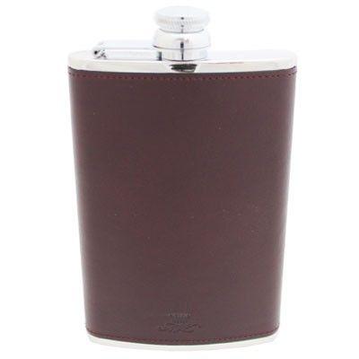 8oz Hip Flask Burgundy