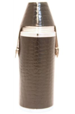 8oz Black Nile Croc Hunter Flask