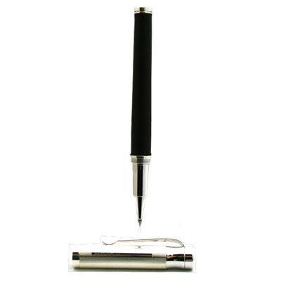 Black Leather Roller Ball Pen