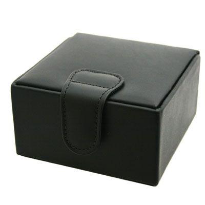 Black Leather Jewellery Box Small