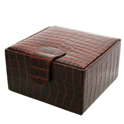 Brown Nile Croc Jewellery Box