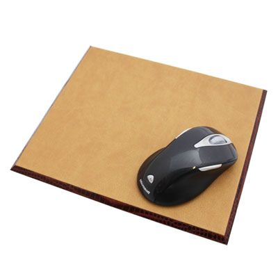 Brown Nile Croc Leather Mouse Mat