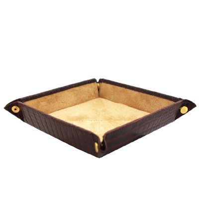 Brown Nile Croc Travel Tray