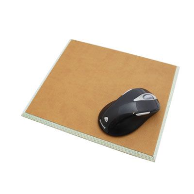 Cobra Blue and Brown Leather Mouse Mat