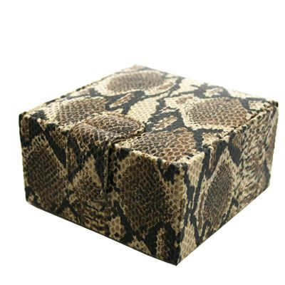 Cobra Natural Effect Leather Jewellery Box