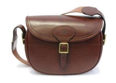 Large Leather Cartridge Bag
