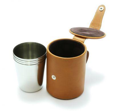 Stirrup Cups Tan Leather