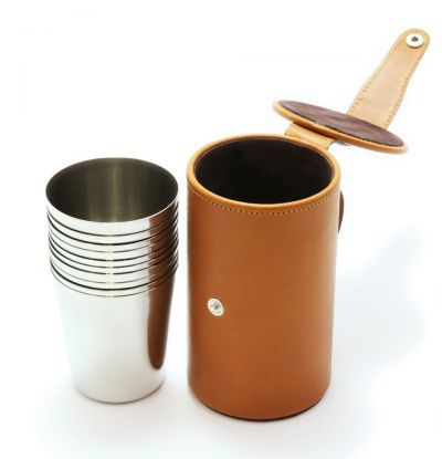 leather stirrup cups