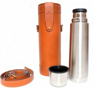 Tan Leather Thermos