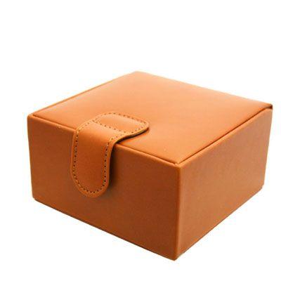 Tan Leather Jewellery Box