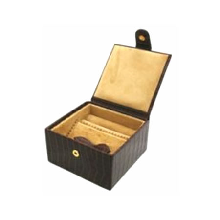 Brown Nile Croc Medium Jewellery Box