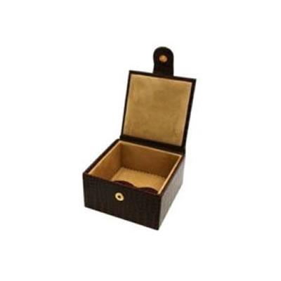 Brown Nile Croc Small Jewellery Box