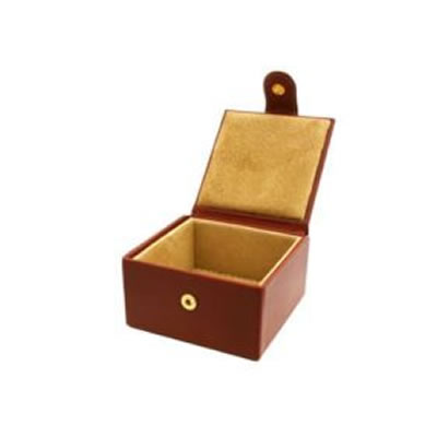 Chestnut small Jewellery box open