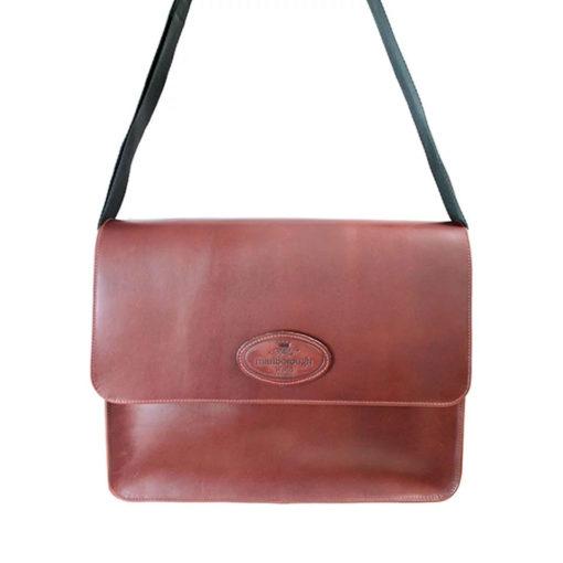 Large Distressed Leather Messenger Bag