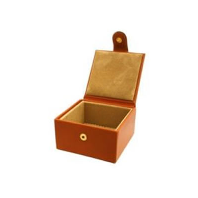Small Tan Jewellery box open