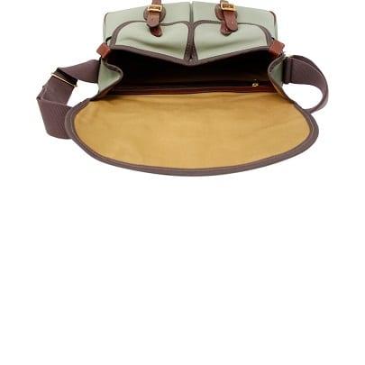 Ariel Trout Bag Green Canvas