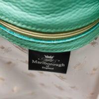 Green Leather Bucket Bag Silk Lining