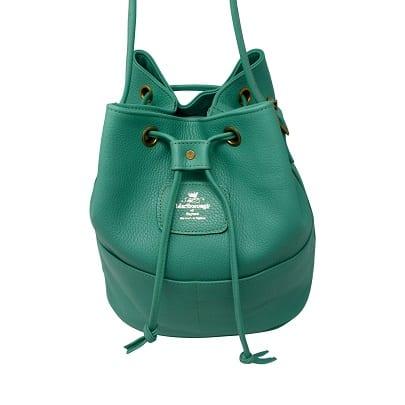 Green Leather Bucket bag