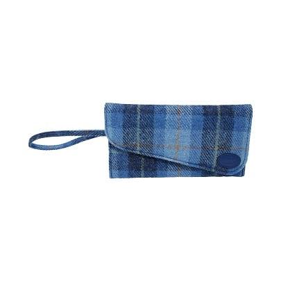 Clutch Bag Blue Harris Tweed