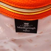 Orange Leather Bucket Bag Silk Lining