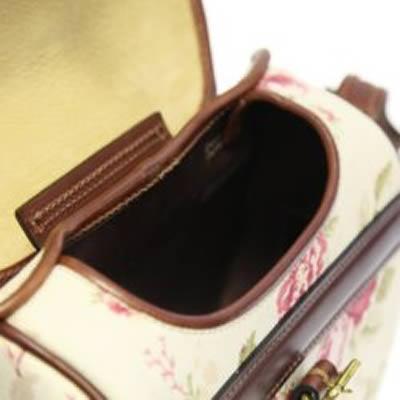Large Rose Patterned Shoulder Bag