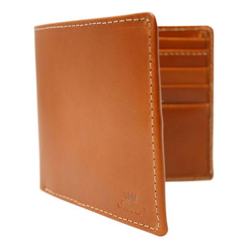 Luxury Tan Leather Billfold Wallet