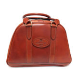 Tan Leather Helmet Bag