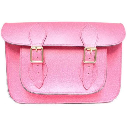 11 inch Pink Pastel Satchel