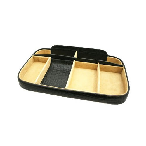 Black Nile Croc Night Tray