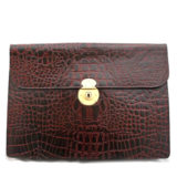Brown Amazon Croc Underarm Document Case