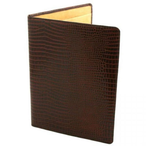 Brown Nile Croc Leather Conference Folder
