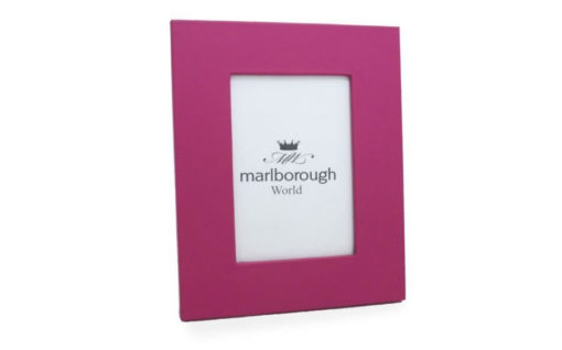 Pink 7×5 Leather Photo Frame