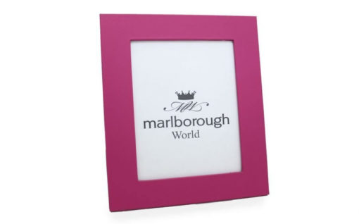 Pink 8×6 Leather Photo Frame