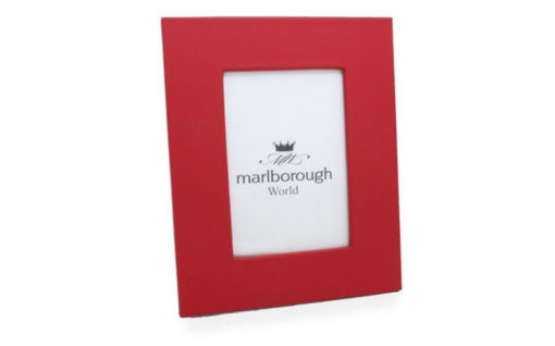 Red 7×5 Leather Photo Frame