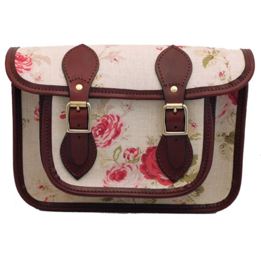 11 inch Satchel Rose Fabric