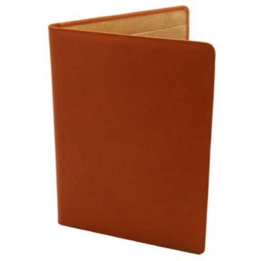 Tan Leather Conference Folder